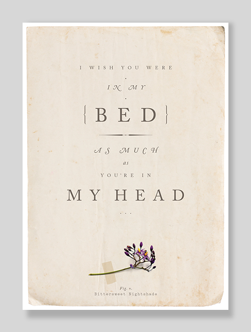 I Wish You Were In My Bed As Much As You're In My Head Erotic Sexy greeting card