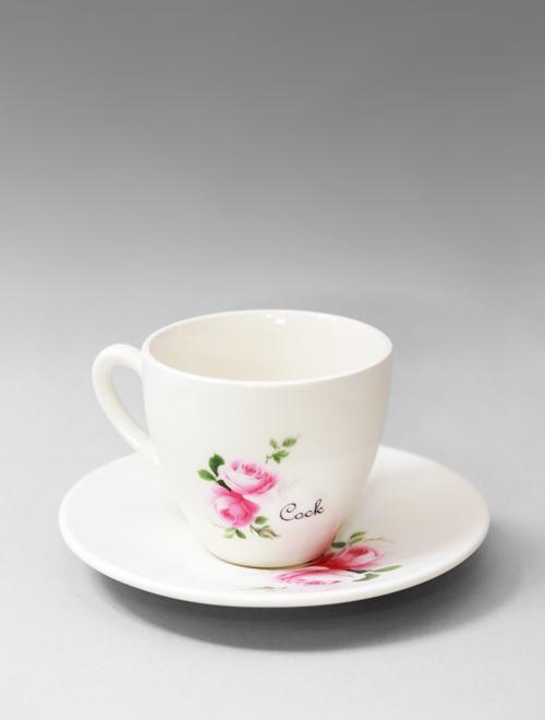 Cock Tea Cup & Saucer