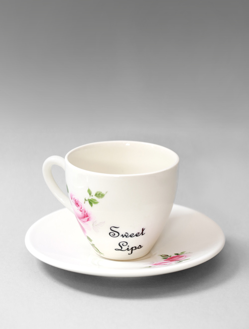 Sweet Lips Tea Cup & Saucer