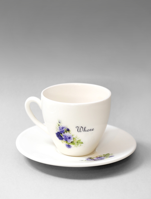 Whore Tea Cup & Saucer